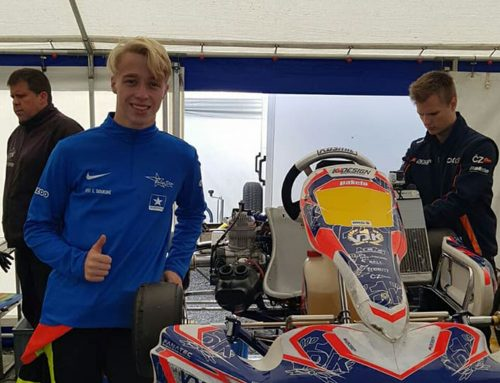 BlueStar youngster Logan Sougné 2stroke race debut