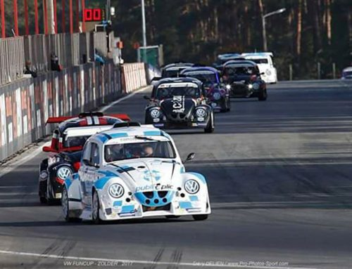 BlueStar's #77 youngster driver Tristan Földesi excelled at 8h VW FUNCUP